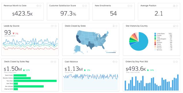 PULSE business intelligence dashboard sample